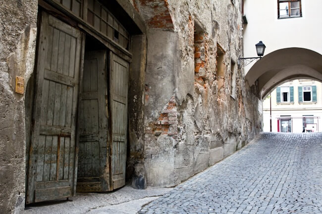 The streets of Lent in Maribor, Slovenia