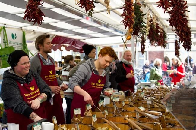 Weekend Farmers Market in Muenster Germany