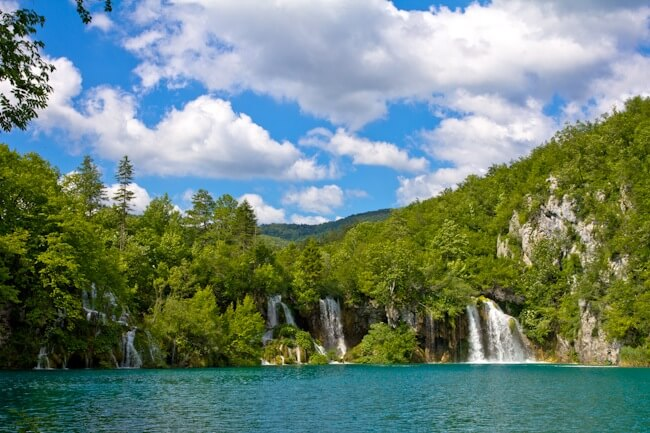 Waterfalls at Plitvice in Croatia