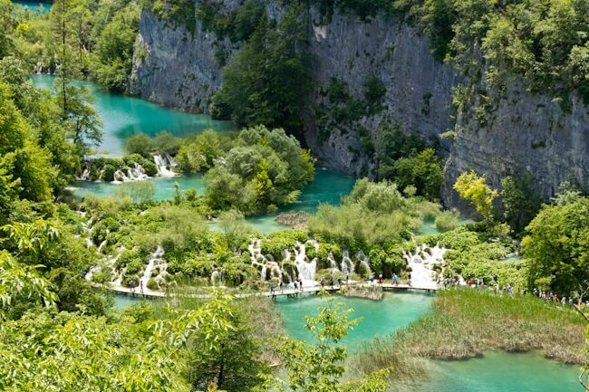 Emerald Green Lakes at Plitvice