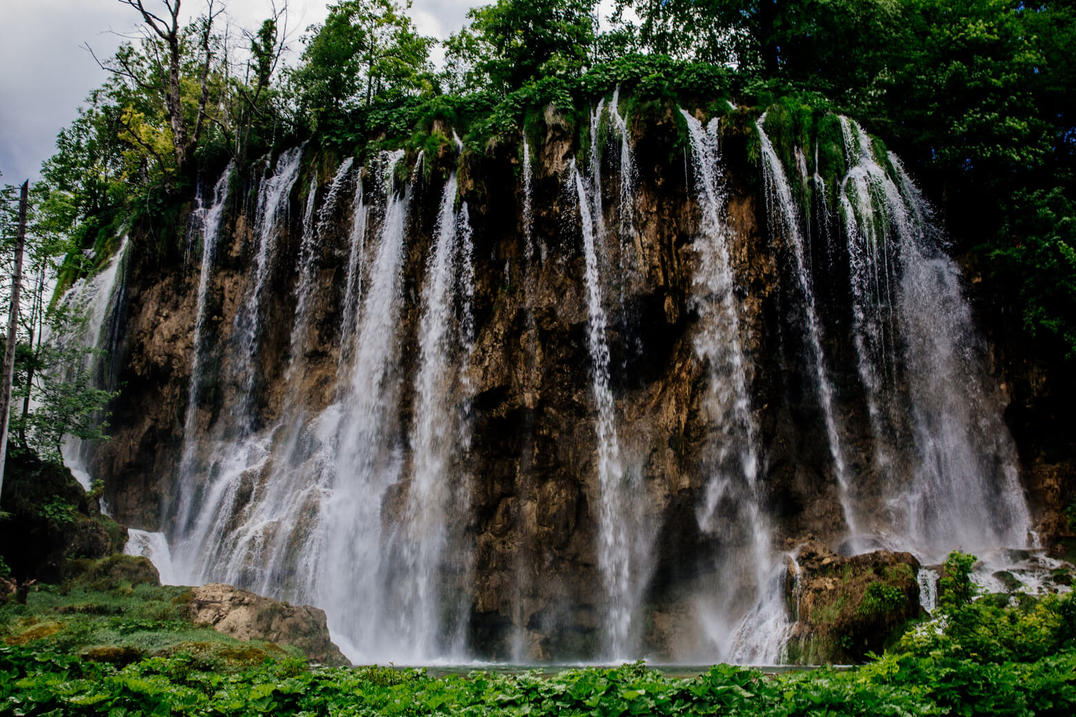 Waterfall at Plitvice in Croatia
