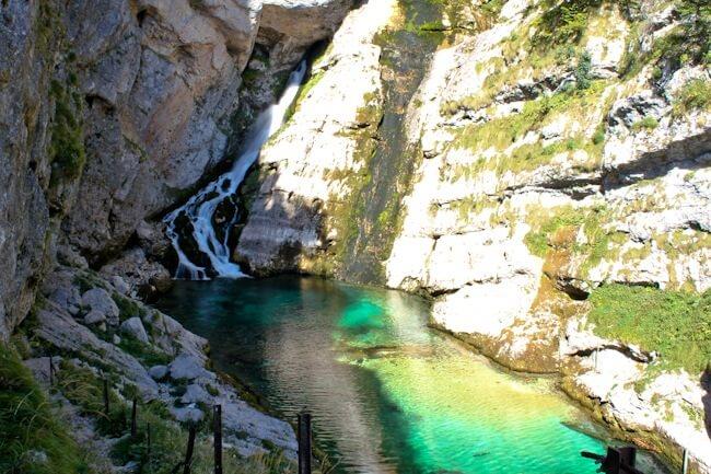 Slovenia's Savica Waterfall