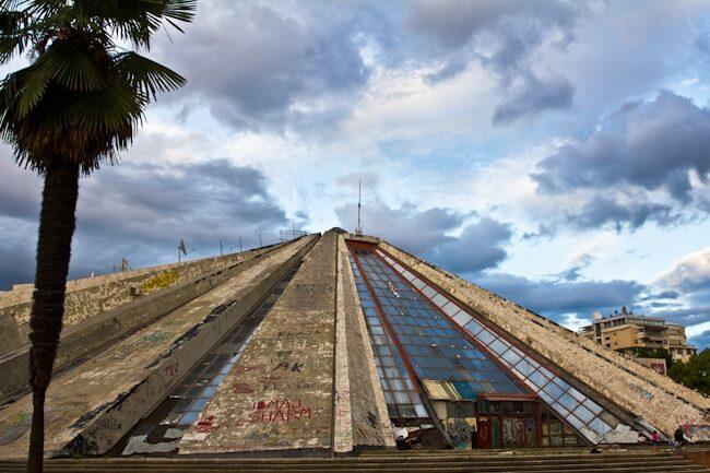 Enver Hoxha's Derelict Pyramid in Tirana