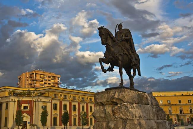 Albania Hero Skanderbeg in Tirana Albania