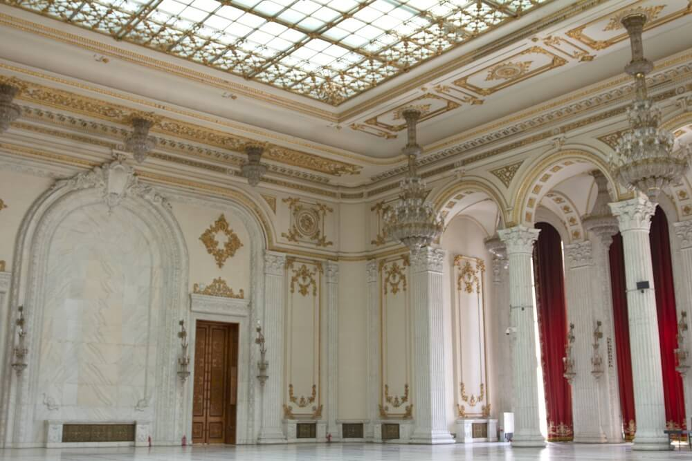 Ballroom in the Palace in Bucharest