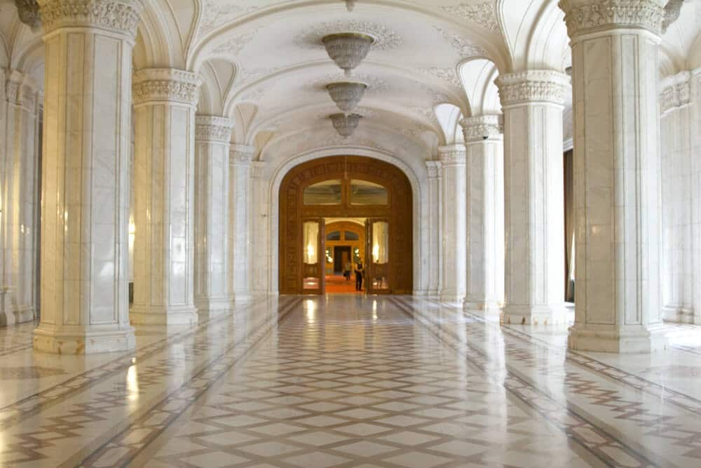 Marble Hallway in the Palace of the Parliament
