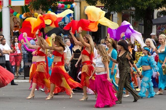 Belly Dancing in the Street in Tiraspol