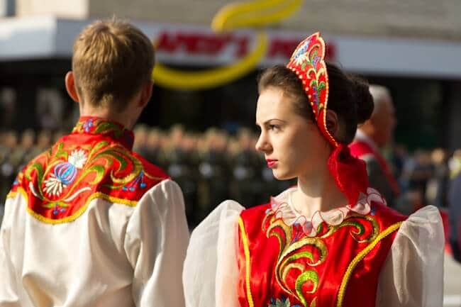 Traditional Dress in the Transnistria Parade