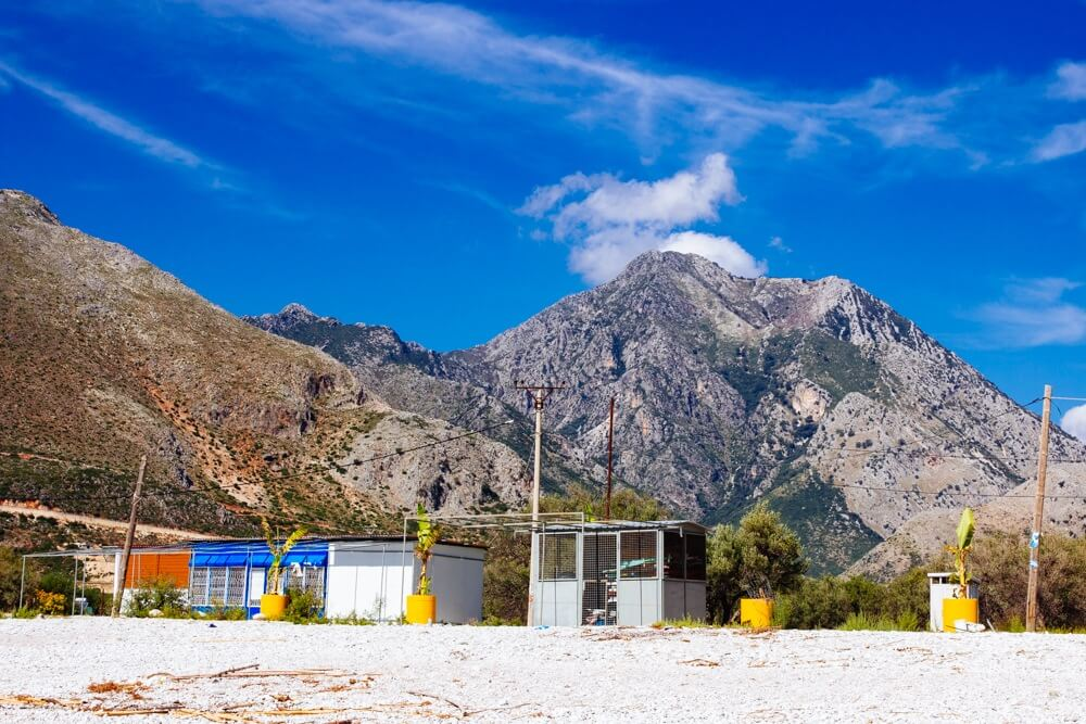 Rugged Borshi Beach on the Albanian Riviera