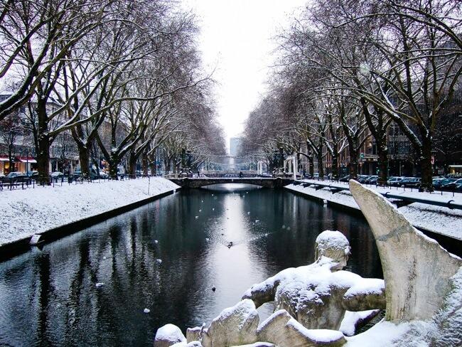Snowy Dusseldorf