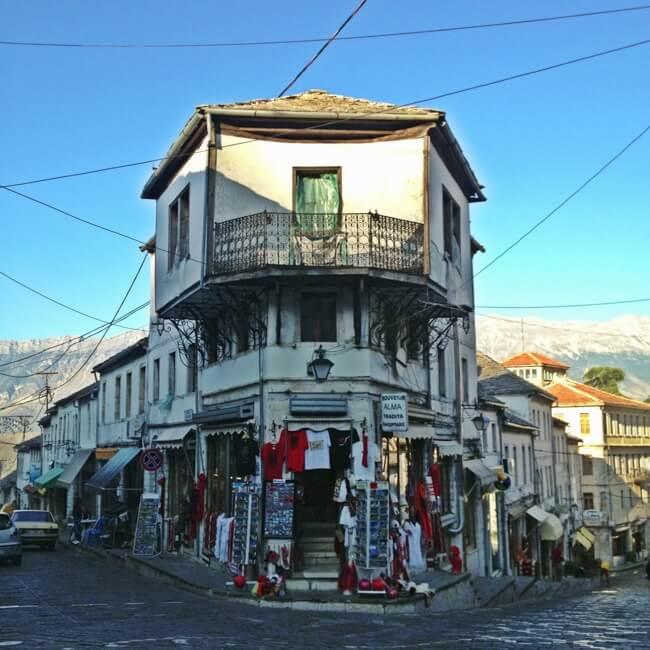 Gjirokastra near Lazarat Albania