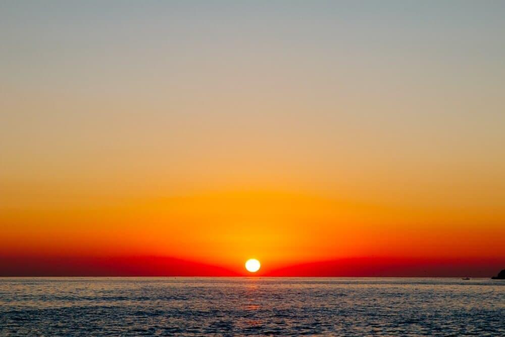 Sunset from Himara Beach