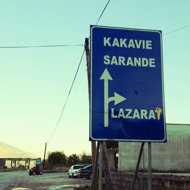 Road to Lazarat in Southern Albania