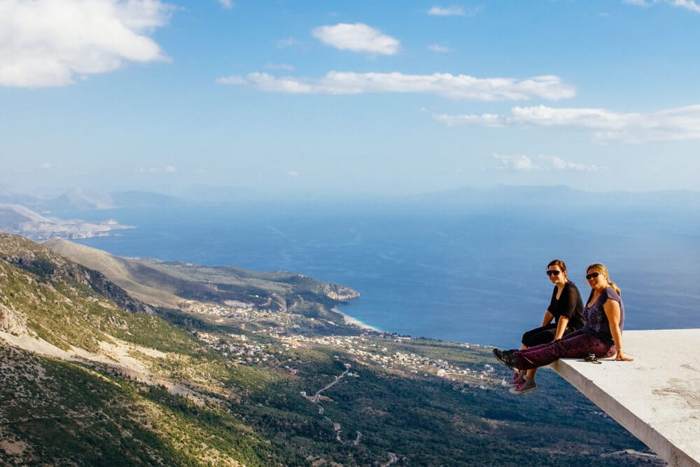 Llogara Pass looking down on the Albanian Riviera