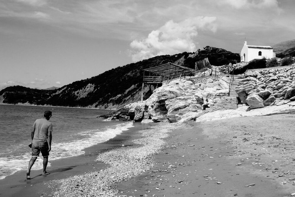 Lukova Beach near Saranda in Southern Albania