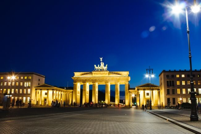 First stop in Berlin - the Brandenburg Gate