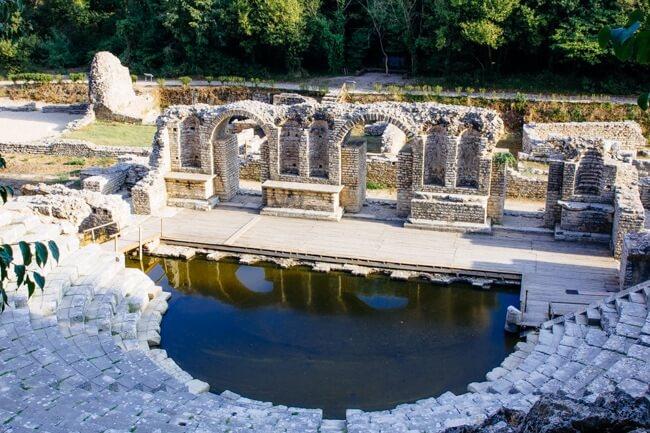 Greek Amphitheatre in Butrint Albania