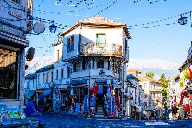 Gjirokastra's Slate Roofed Ottoman Houses