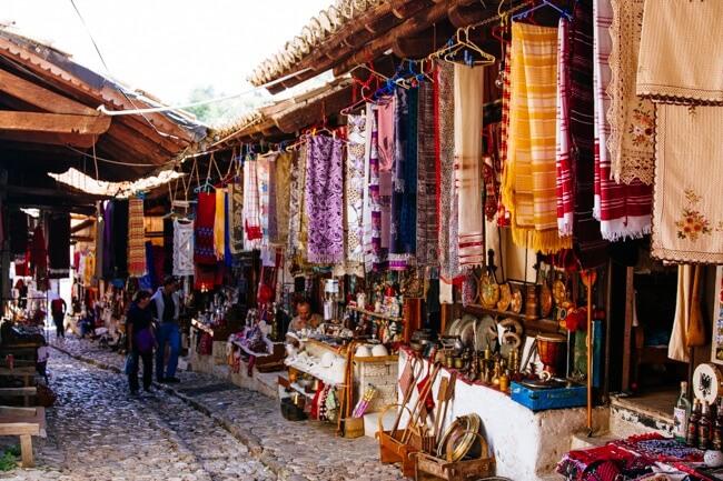 Old Ottoman Bazaar in Kruja
