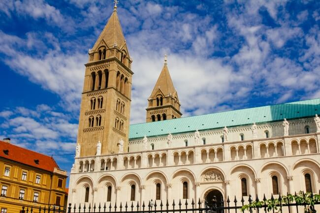 Beautiful Pecs Cathedral in Hungary