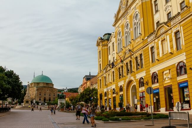 The Main Szechenyi Square in Pecs