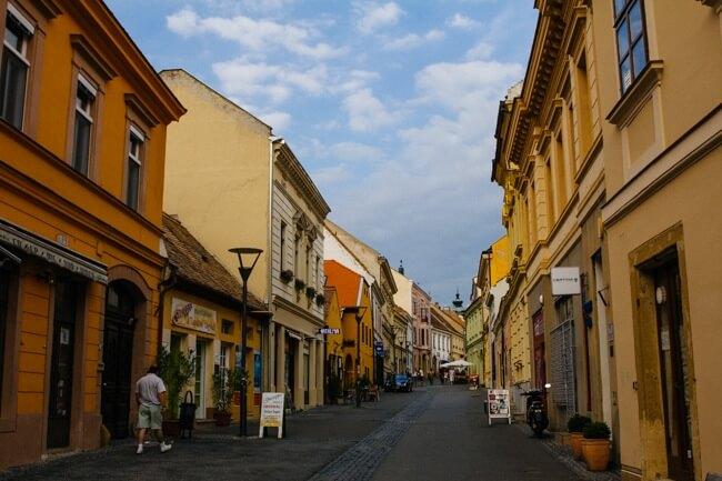 Ferencesek Pedestrian Street in Pecs
