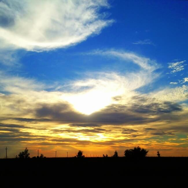 Bulgaria Border Sunset