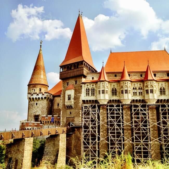 Hunedoara Romania in August