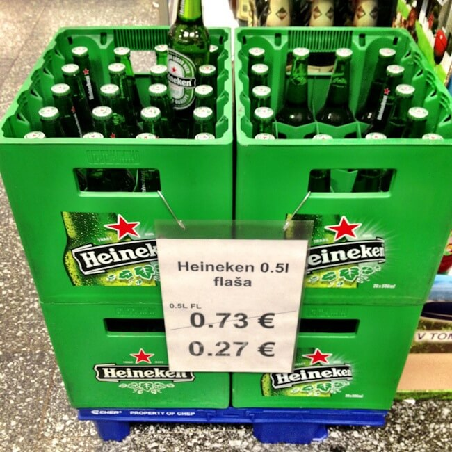 Almost free beer in Kosice