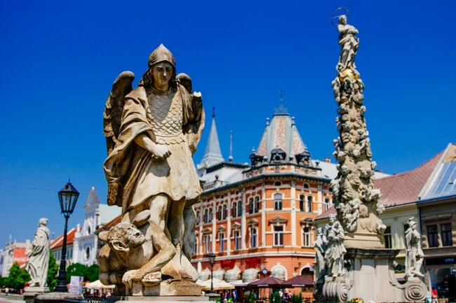 Crazy Statues in Kosice Slovakia