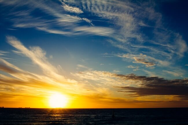 Sunset at Cottesloe Beach Perth