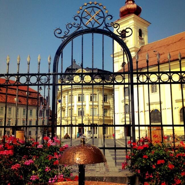 Sibiu Romania in August