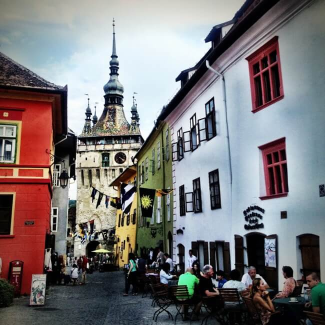 Sighisoara Romania in August