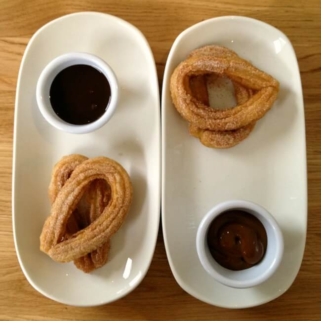 Churros with cajeta at Lupita East