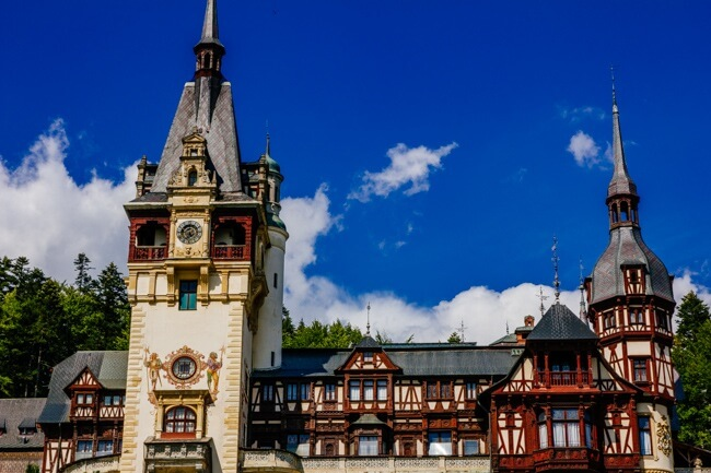 Peles Castle in Summer