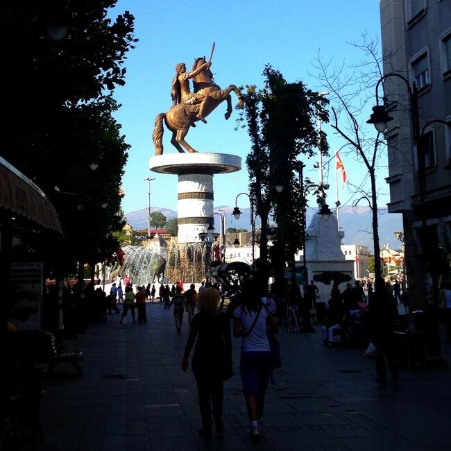 Alexander the Great in Shkupi