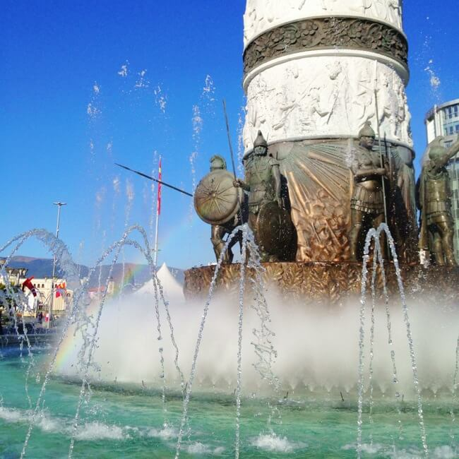 Macedonian Warrior Fountain