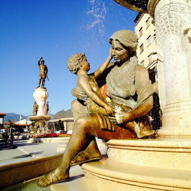 Motherly Love in Skopje Macedonia
