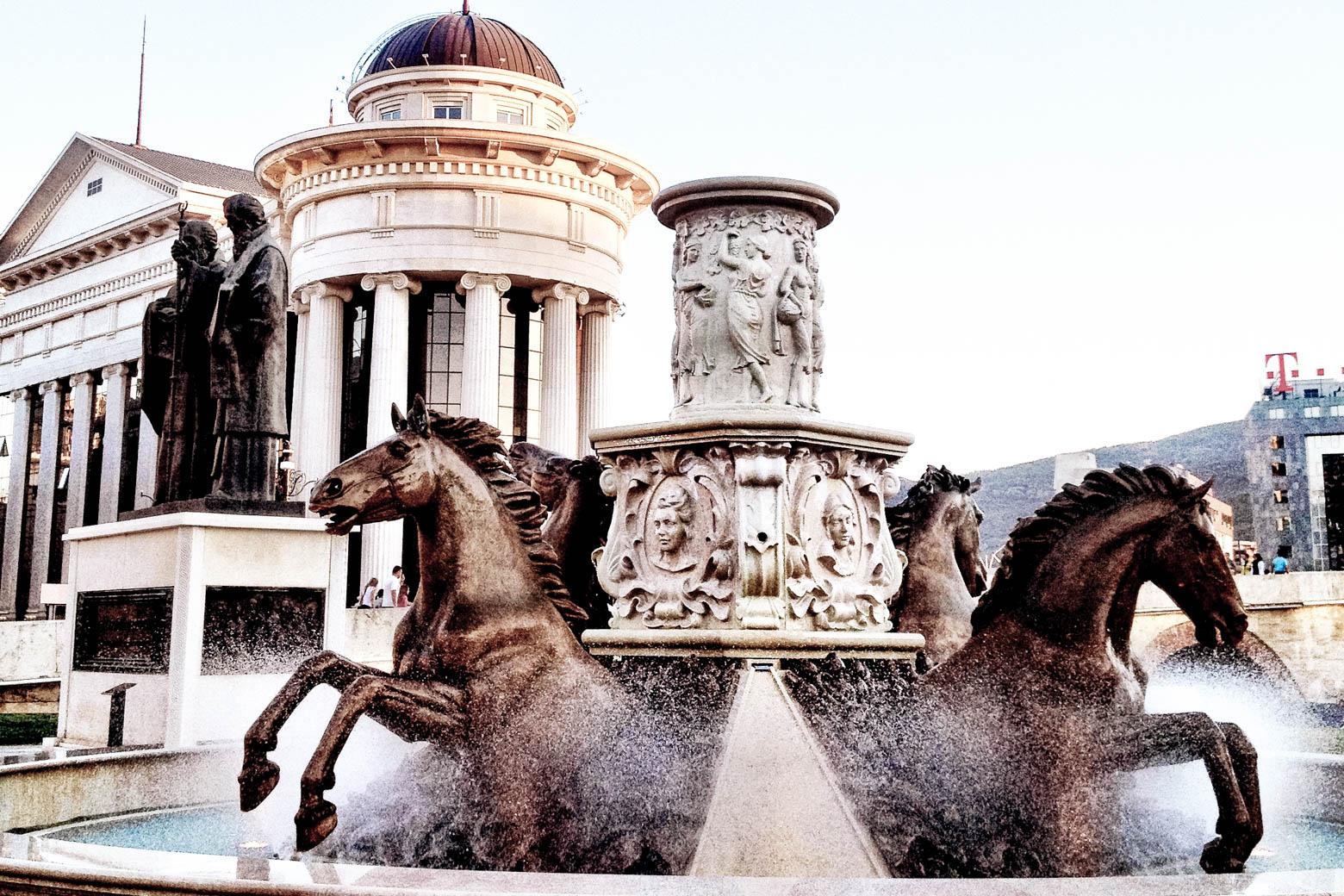 Skopje Horse Statue