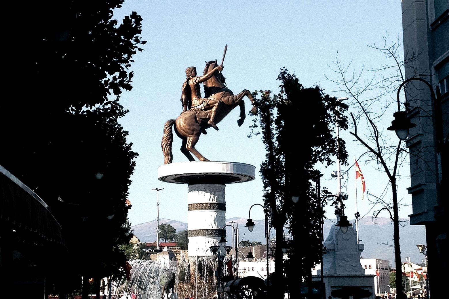 Alexander the Great in Skopje North Macedonia