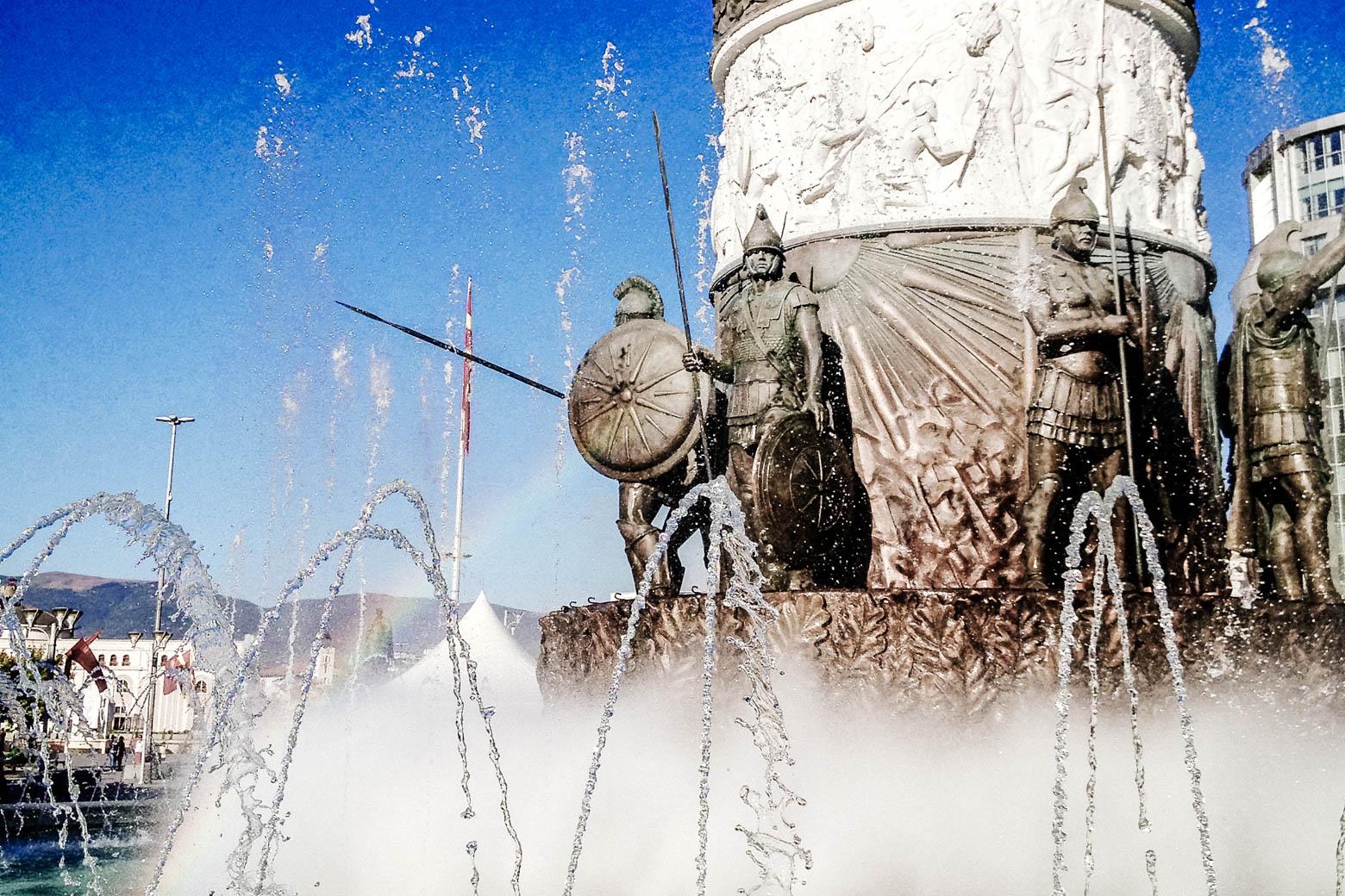 Skopje Soldier Fountain