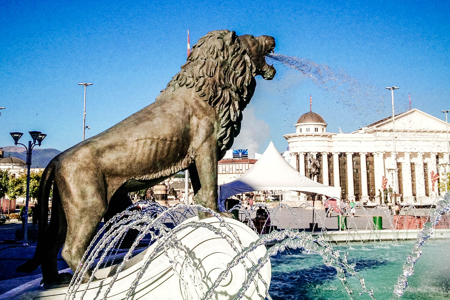 Skopje Spitting Lion Fountain