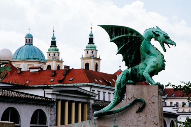 Dragon Bridge in Ljubjana