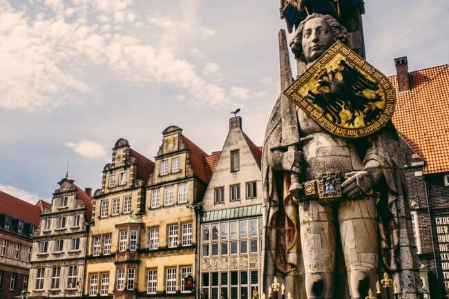 Bremen Roland Statue on the Marktplatz