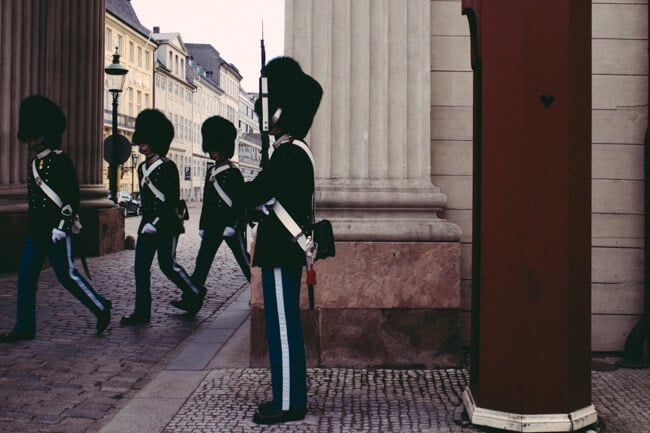 Changing of the guard in Copenhagen Denmark