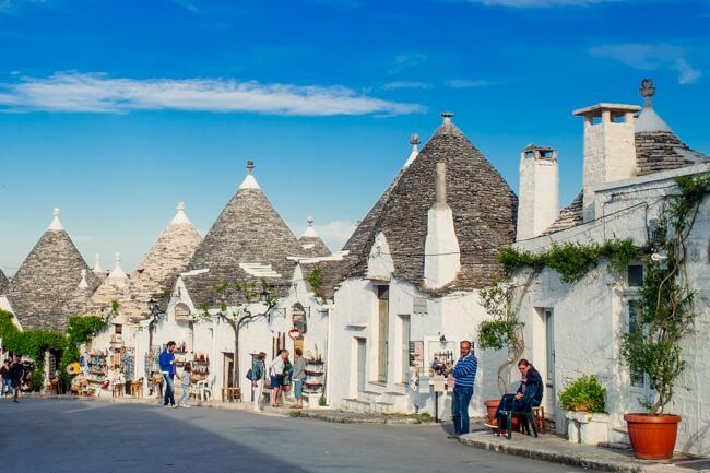 Many of the trulli buidings are now tourist shops.