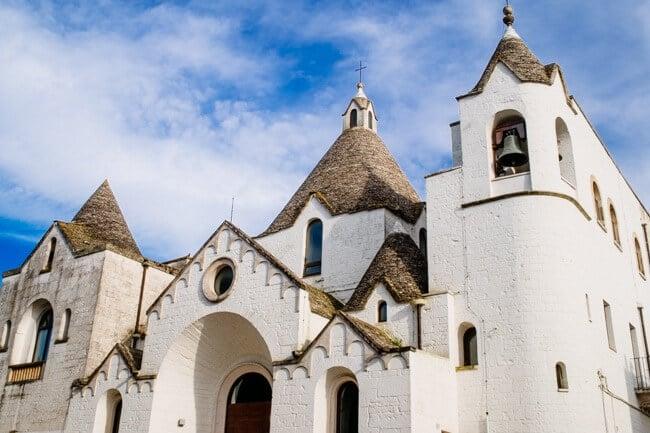 Trulli Basilica in Alberobello Italy