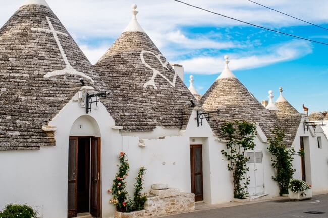 Quirky Trulli Houses in Italy Near Bari