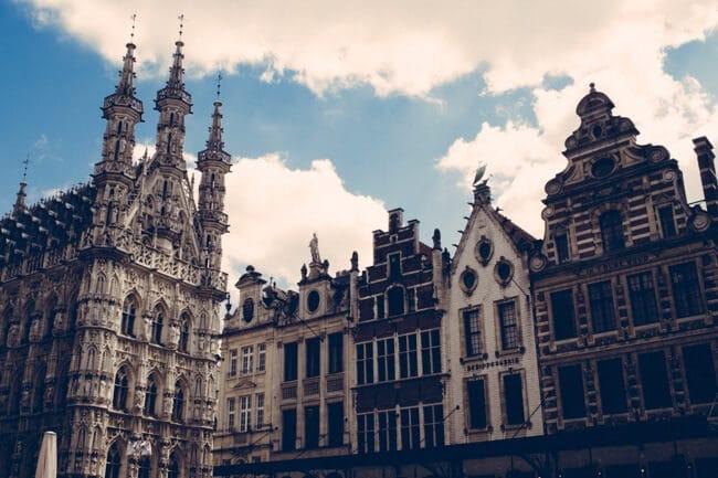 The cool main square in Leuven Belgium