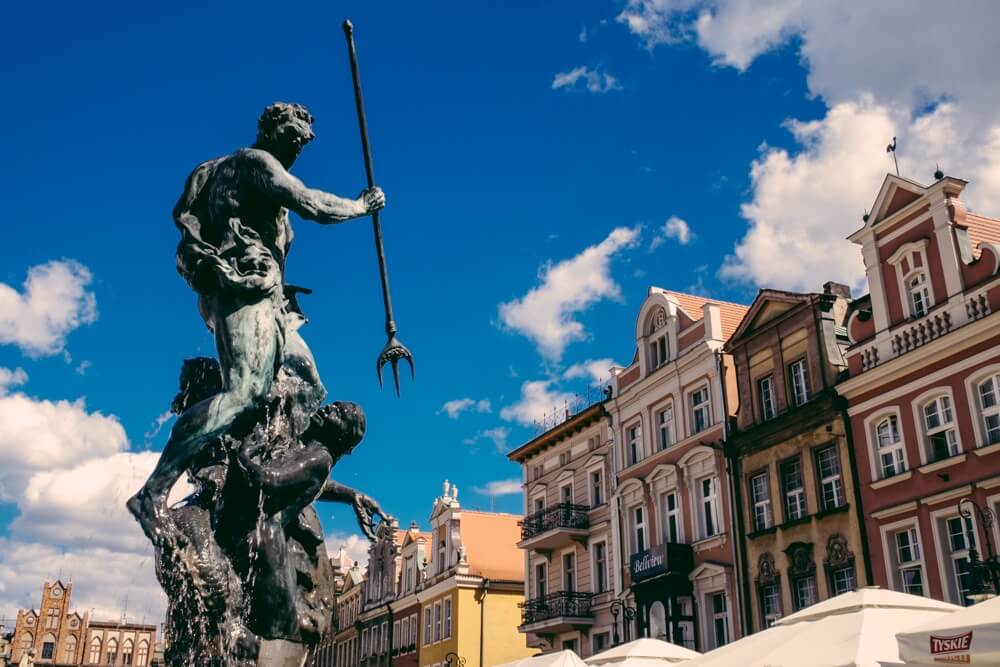 Market Square Fountain in Poznan